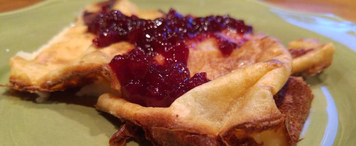 Glutenfri ugnspannkaka med bacon