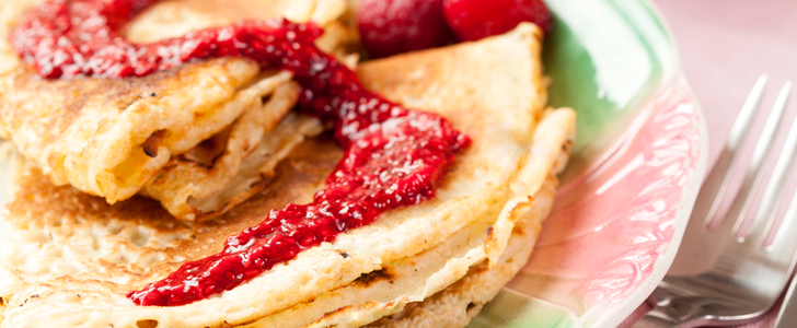 gluten och äggfria pannkakor